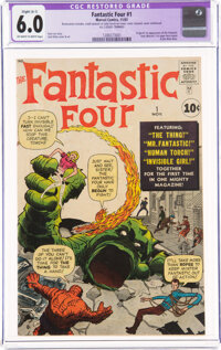 Fantastic Four #1 (Marvel, 1961) CGC Apparent FN 6.0 Slight (A-1) Off-white to white pages