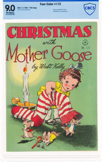 Four Color #172 Christmas with Mother Goose - File Copy (Dell, 1947) CBCS VF/NM 9.0 Off-white pages
