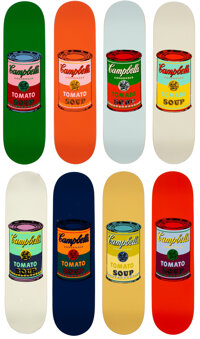 The Andy Warhol Foundation for the Visual Arts X The Skateroom Campbell's Tomato Soup (set of 8), 2016<