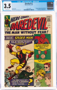 Daredevil #1 (Marvel, 1964) CGC VG- 3.5 Off-white pages