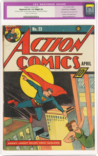 Action Comics #23 (DC, 1940) CGC Apparent VG 4.0 Slight (A) Cream to off-white pages