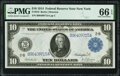 Fr. 910 $10 1914 Federal Reserve Note PMG Gem Uncirculated 66 EPQ