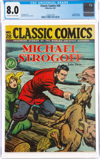 Classic Comics #28 Michael Strogoff - First Edition (Gilberton, 1946) CGC VF 8.0 Off-white to white pages