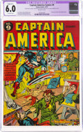 Golden Age (1938-1955):Superhero, Captain America Comics #9 (Timely, 1941) CGC Apparent FN 6.0 Slight (B-1) Off-white pages....