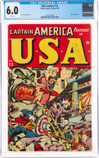 USA Comics #12 (Timely, 1944) CGC FN 6.0 White pages