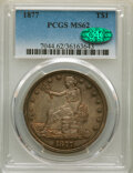 Trade Dollars: , 1877 T$1 MS62 PCGS. CAC. PCGS Population: (86/168). NGC Census: (83/123). CDN: $950 Whsle. Bid for NGC/PCGS MS62. Mintage 3...