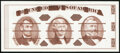 Small Size:Group Lots, Giori Press Jefferson Reddish-Brown Ink Face Black Ink Back Test Note Gem Crisp Uncirculated.. ...
