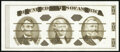 Small Size:Group Lots, Giori Press Jefferson Black Ink Face Reddish-Brown Ink Back Test Note Gem Crisp Uncirculated.. ...