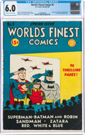 Golden Age (1938-1955):Superhero, World's Finest Comics #5 (DC, 1942) CGC FN 6.0 Off-white to white pages....