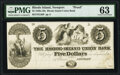 Obsoletes By State:Rhode Island, Newport, RI- Rhode Island Union Bank $5 18__ as G36 as Durand 706 Proof PMG Choice Uncirculated 63.. ...