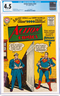 Action Comics #222 (DC, 1956) CGC VG+ 4.5 Off-white pages