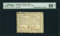 Virginia March 1, 1781 $250 PMG Extremely Fine 40 Net