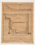 Military & Patriotic:Pre-Civil War, Fort Defiance: 1836 Joseph Chadwick Map of Col. James Fannin's Defenses at the Historic Site of the Battle of Goliad....