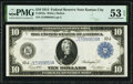 Large Size:Federal Reserve Notes, Fr. 943a $10 1914 Federal Reserve Note PMG About Uncirculated 53 EPQ.. ...