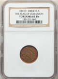 1863 Token Indiana Primitive, The Flag of Our Union, Fuld-280/400A, MS65 Brown NGC