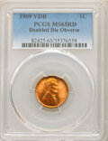 Lincoln Cents, 1909 1C VDB Doubled Die Obverse MS65 Red PCGS. PCGS Population: (36/27). NGC Census: (4/3). CDN: $975 Whsle. Bid for NGC/PC...
