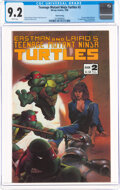 Modern Age (1980-Present):Alternative/Underground, Teenage Mutant Ninja Turtles #2 Third Printing (Mirage Studios, 1986) CGC NM- 9.2 White pages....
