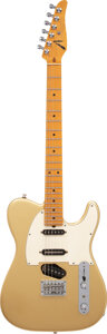 Musical Instruments:Electric Guitars, 2002 Tom Anderson Drop Tee Gold Solid Body Electric Guitar, Serial #6-15-02P.. ...