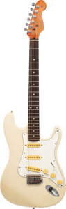 Musical Instruments:Electric Guitars, circa 2013 Parts-caster Metallic Cream Solid Body Electric Guitar.. ...