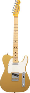 Musical Instruments:Electric Guitars, 2017 Fender Telecaster Gold Solid Body Electric Guitar, Serial #US 17099496.. ...