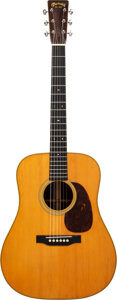 Musical Instruments:Acoustic Guitars, 1937 Martin D-28 Natural Acoustic Guitar, Serial #65573.. ...