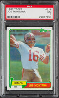 Football Cards:Singles (1970-Now), 1981 Topps Joe Montana #216 PSA NM 7....