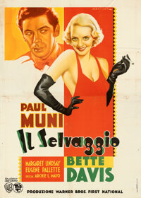 "Bordertown (Warner Bros., 1935). Fine+ on Linen. Italian 4 - Fogli (54.5"" X 77"") Luigi Martinati Art"
