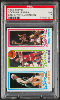 1980 Topps Larry Bird/Julius Erving/Magic Johnson PSA NM 7