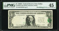 Error Notes:Shifted Third Printing, Shifted Third Printing Error Fr. 1907-K $1 1969D Federal Reserve Note. PMG Choice Extremely Fine 45.. ...