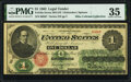 Large Size:Legal Tender Notes, Fr. 16a $1 1862 Legal Tender PMG Choice Very Fine 35.. ...