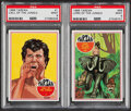 Non-Sport Cards:Lots, 1966 Philadelphia Tarzan #1 Call Of The Jungle & #66 Lord Of The Jungle PSA Mint 9 Graded Pair (2)....