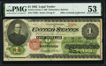 Large Size:Legal Tender Notes, Fr. 17a $1 1862 Legal Tender PMG About Uncirculated 53.. ...