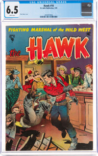 The Hawk #10 (St. John, 1955) CGC FN+ 6.5 White pages
