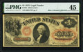 Large Size:Legal Tender Notes, Fr. 20 $1 1875 Legal Tender PMG Choice Extremely Fine 45.. ...