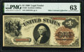 Large Size:Legal Tender Notes, Fr. 28 $1 1880 Legal Tender PMG Choice Uncirculated 63.. ...