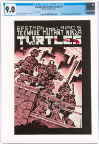 Teenage Mutant Ninja Turtles #1 Third Printing (Mirage Studios, 1985) CGC VF/NM 9.0 White pages