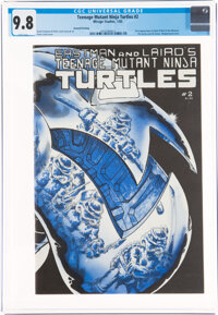 Teenage Mutant Ninja Turtles #2 Second Printing (Mirage Studios, 1985) CGC NM/MT 9.8 White pages
