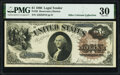 Large Size:Legal Tender Notes, Fr. 32 $1 1880 Legal Tender PMG Very Fine 30.. ...