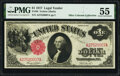 Fr. 36 $1 1917 Legal Tender PMG About Uncirculated 55