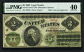 Fr. 41a $2 1862 Legal Tender PMG Extremely Fine 40