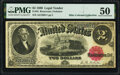 Fr. 55 $2 1880 Legal Tender PMG About Uncirculated 50