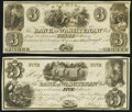 Obsoletes By State:Michigan, Ann Arbor, MI- Bank of Washtenaw $3 Remainder; $5 May 9, 1835 About Uncirculated; Crisp Uncirculated.. ... (Total: 2 notes)