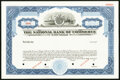 Six National Bank Specimen Stock Certificates ND circa 1970s. New Orleans, LA- National Bank of Commerce Ch. #13689 Choi...