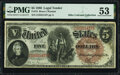 Fr. 72 $5 1880 Legal Tender PMG About Uncirculated 53