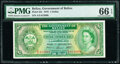 Belize Government of Belize 1 Dollar 1.1.1976 Pick 33c PMG Gem Uncirculated 66 EPQ