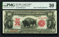 Large Size:Legal Tender Notes, Fr. 117 $10 1901 Legal Tender PMG Very Fine 30.. ...