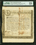 Colonial Notes:Massachusetts, Massachusetts (Act of May 2, 1777) 6% Treasury Loan Certificate due June 1, 1780 Anderson-Smythe MA-7 PMG Very Fine 25.. ...