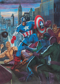 Tom Palmer - Captain America Signed and Numbered Print #1512/2500 (First Team Press, 1987)