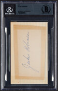 Autographs:Index Cards, Jackie Robinson Signed Cut, Beckett Authentication Services. ...