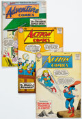 Silver Age (1956-1969):Superhero, Action Comics/Adventure Comics Group of 7 (DC, 1960s) Condition: Average FN.... (Total: 7 Comic Books)